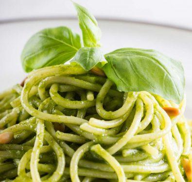 Spaghettti with Pesto Sauce (2)